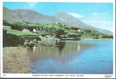 Westport, Co. Mayo - Croagh Patrick from town - Dollard postcard c.1960s