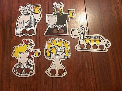 5 Skol Beer Mats Coaster Job Lot