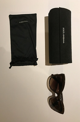 Dolce & Gabbana Cat-Eye 'Golden Leaf' Sunglasses GREAT CONDITION