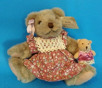 Russ Berrie Mayfair Bears From The Past with Baby 7""