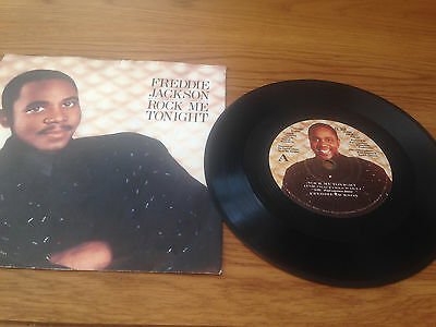 "VINYL 7"" Freddie Jackson, Rock Me Tonight (CL 358) Very Good+"