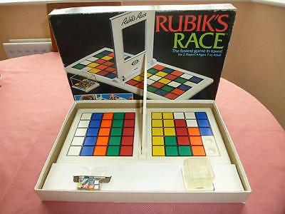 Rubiks Race Vintage Game by Ideal Toys 1980's Complete