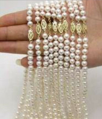 """wholesale 10pc 6-7MM Akoya Cultured Pearl Necklace 17"""""""