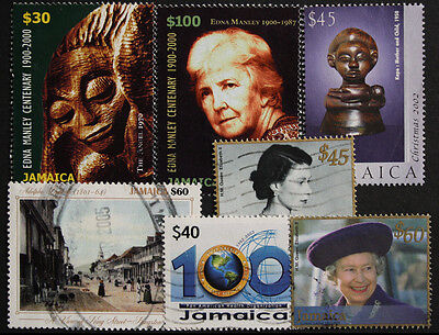 Jamaica Nice Modern Used Range of 7 Stamps, Good Catalogue Value