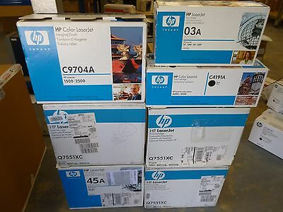 Job Lot Of 7 Genuine HP Toner Cartridges Q5945A,Q7551XC,C9704A,C3903A,C4191A