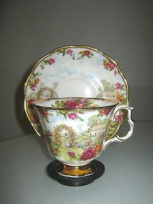 STUNNING ROYAL ALBERT 25th ANNIVERSARY PORCELAIN CUP & SAUCER DUO