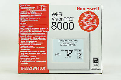Honeywell TH8321WF1001 Wifi Vision Pro 8000 with Stages upto 3 Heat / 2 Cool New