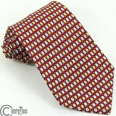 Cravatta Alta Qualità ADAM'S Bordeaux Pois 100% Seta Made in Italy Tie silk