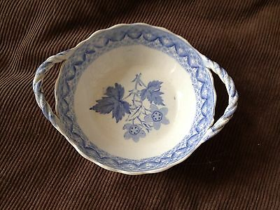 SPODE blue and white 2 handled dish