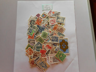 100 used postage stamps CZECHOSLOVAKIA pk 3 no doubles
