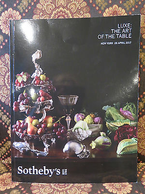 Sothebys Luxe Art of Table Antiques SILVER Meissen Tiffany Ashmolean NYC Catalog