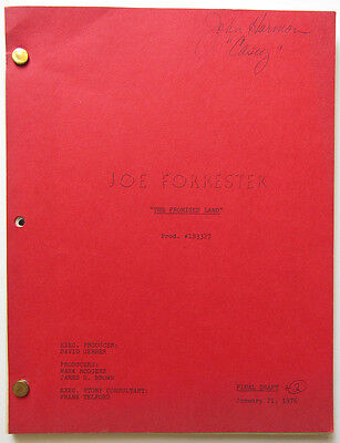 "Vintage ""Joe Forrester"" script Final Draft 1/21/76 ""The Promised Land"""