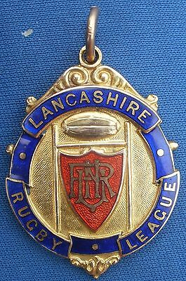 LANCASHIRE RUGBY LEAGUE WINNERS MEDAL,1933-34 9ct GOLD.