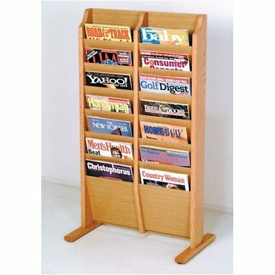 Rebrilliant 14 Pocket Free Standing Magazine Rack
