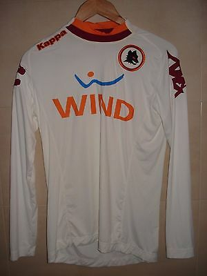 Camiseta Football Shirt Jersey Maglia As Roma Kappa Italia Italy L/s Away White