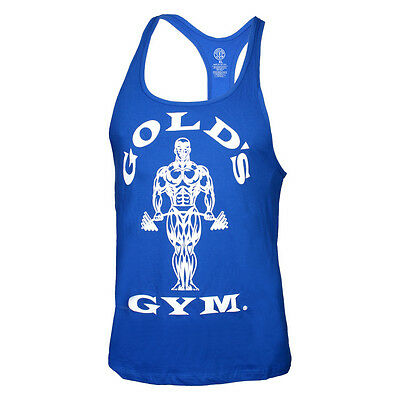 "GOLD'S GYM Classic Stringer Tank Top ""Gold's Gym""  royal blue blau Muscle Joes's"
