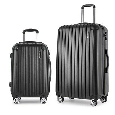 *Set of 2 Hard Shell Travel Luggage with TSA Lock - Black **FREE DELIVERY**