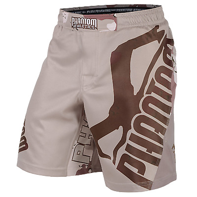 "PHANTOM Fightshort ""STORM Warfare"" - Desert Camo MMA Fighting"