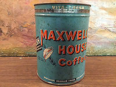 Vintage Maxwell House  2 Lb Coffee Tin Can