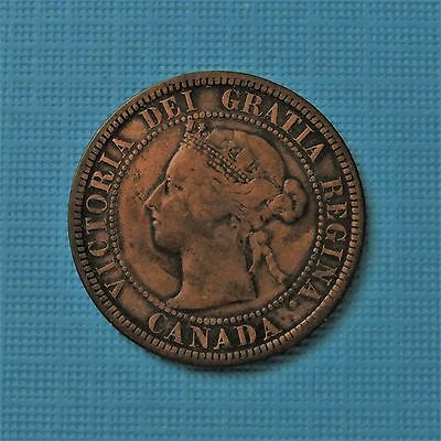 1888 Canada Canadian large cents one cent penny coin