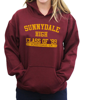SUNNYDALE High Class Of '99 College Hoodie Jumper - Buffy The Vampire Slayer Top