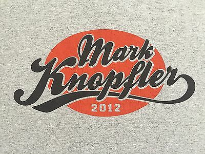 Mark Knopfler North American Tour 2012 Concert Shirt Large Dire Straits