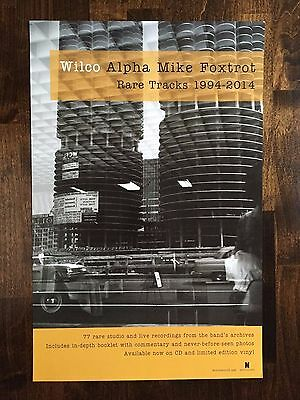Wilco Alpha Mike Foxtrot Rare Tracks 1994-2014 Promo Poster Jeff Tweedy 2 sided
