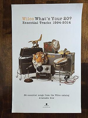 Wilco What's Your 20? Essential Tracks 1994-2014 Promo Poster 2 Sided
