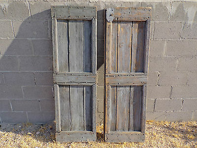 "Antique French Provence 19"" X 62"" Farm Shutters Architectural Antique Design"