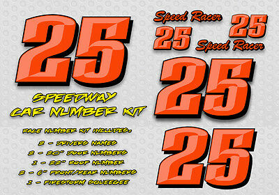 Red Drops Race Car Numbers Vinyl Decal Kit Package 86 99 Picclick