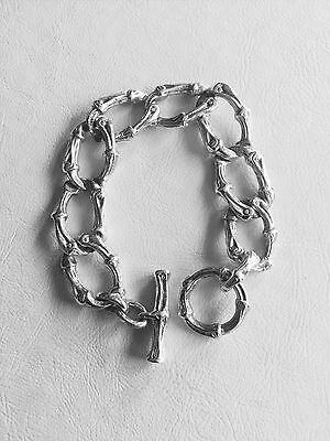 Tiffany & Co Sterling Silver Bamboo Link Toggle Bracelet Rare