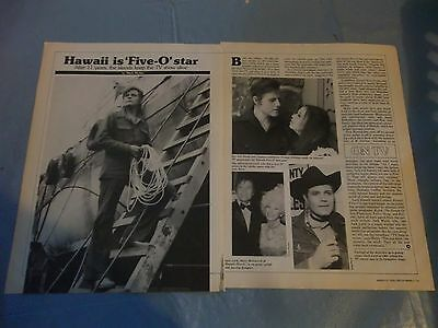 Jack Lord hawaii five-O star  clipping #PM