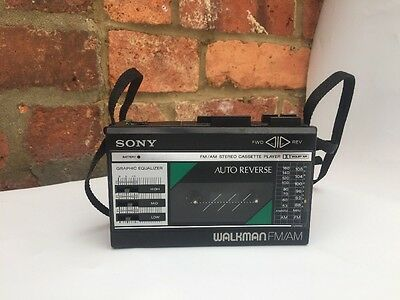Vintage Retro Sony Walkman WM-F28 - Radio FM/ AM / Cassette Player - Tested Work