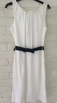 Beautiful Hobbs Navy & White Dress & Jacket Suit - Excellent Condition - Size 10