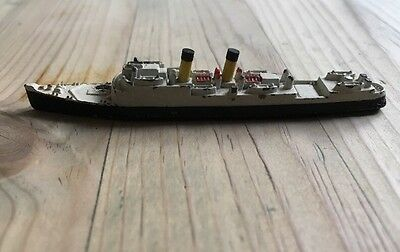 Vintage Tri-Ang SS Isle Of Jersey Liner Ship Painted Metal Sold As Seen