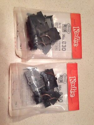 Two Pair Kadee G Scale Plastic #830 Couplers New In Package