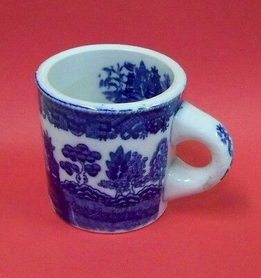 Vintage Japan,Blue Willow,Flow-Blue,Cafe, Coffee Cup