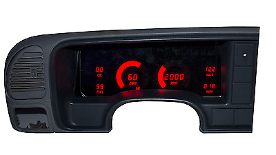 Chevy Truck Digital Dash Panel For 1995-1999 Gauges GMC Intellitronix Red LEDs!!
