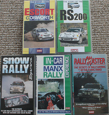 5 VHS Best of Ford RS200 & RS Cosworth + Manx Inboard + Snow Rally + Rallymaster
