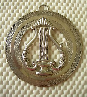 A Victorian Silver  Masonic  Collar Jewel For An Organist