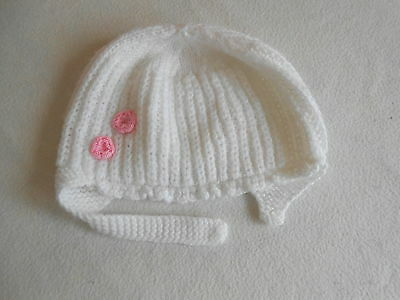 Baby Girls Clothes 6-9 Months - Cute Girl Winter Hand Knitted Hat -