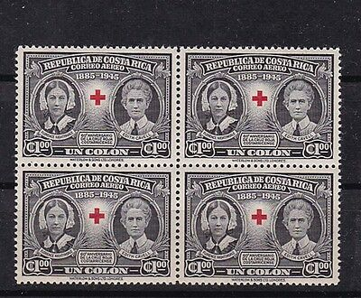 costa rica 1945 Sc C120,block of four,MNH          j828