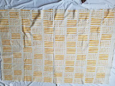 "Authentic African Handwoven Bambara Mudcloth Fabric From Mali Size 62"" x 42"""