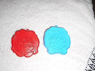 Vintage Hallmark Raggedy Ann & Andy Face Cookie Cutters! Sweet! 1978