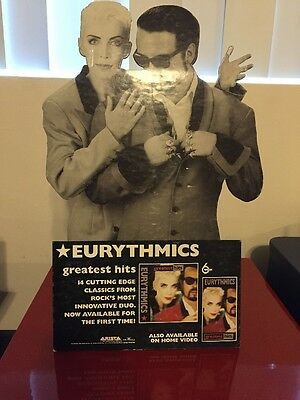 Eurythmics Stand Up Counter Poster 1991 Arista / BMG Greatest Hits