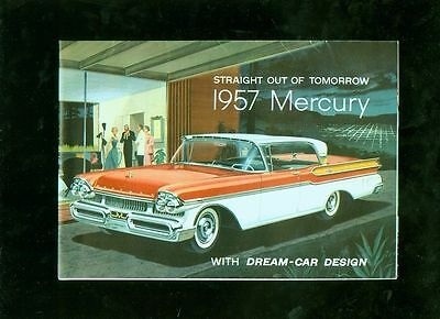 1957 Mercury small 16-page foldout advertising publication