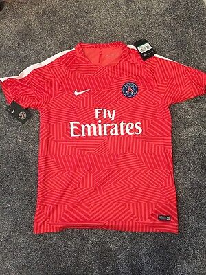 Nike PSG Player Issue Pre Match Football Shirt Exclusive Product Size XL