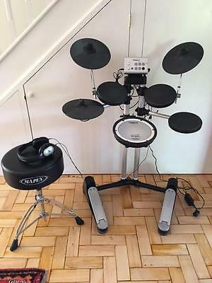 Roland HD-1 Electric Drum Kit HD1 with Stool Headphones & Manuals