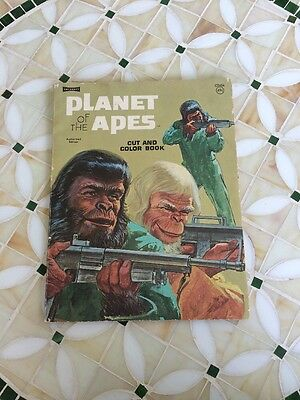 Planet Of The Apes Coloring Book Vintage Artcraft Battle 1974