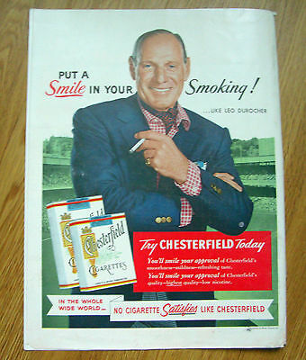 1955 Canadian Club Whiskey Ad War Elephant 1955 Chesterfield Ad Leo Durocher